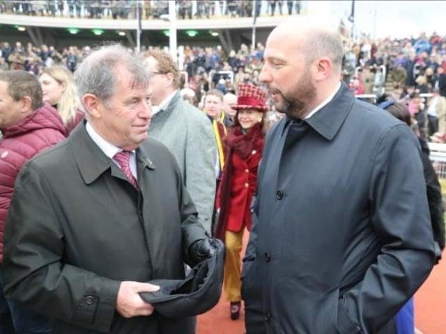 Ed Nicholson, right, with JP McManus.