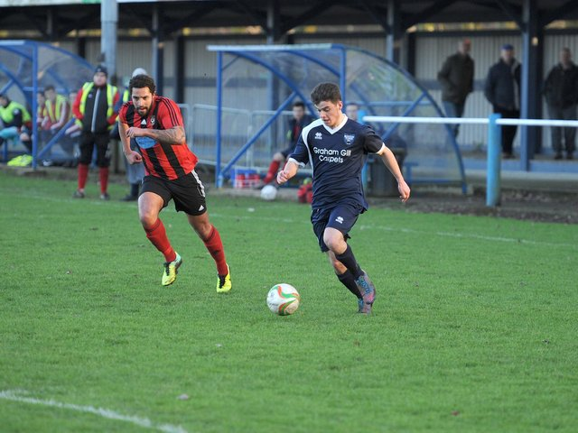 Jack Wightwick in action for Boston Town.