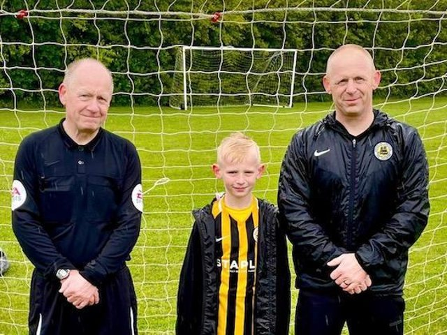 Richard, Alfie and Chris Galey.