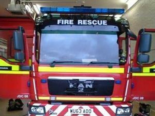 Six appliances attended the fire