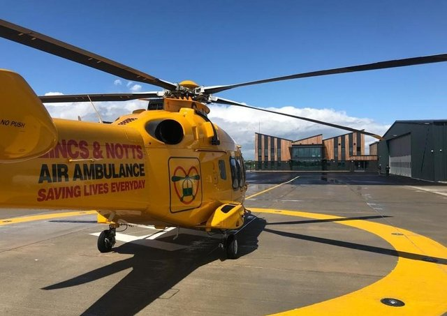 The air ambulance is now at ts new headquarters EMN-211105-152937001