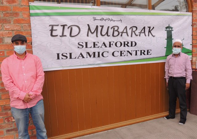 Putting out a goodwill message as the Sleaford Islamic Centre celebrated Eid-Ul-Fitr. EMN-211205-161559001
