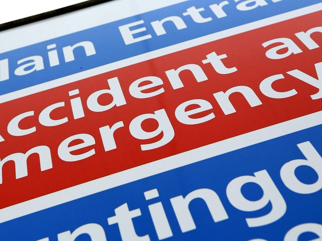 NHS England figures show 16,883 patients visited A&E at United Lincolnshire Hospitals NHS Trust in April, a rise of eight per cent.