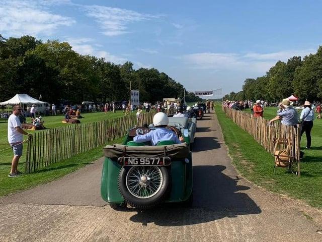 Grimsthorpe's Vintage Speed Trials event.