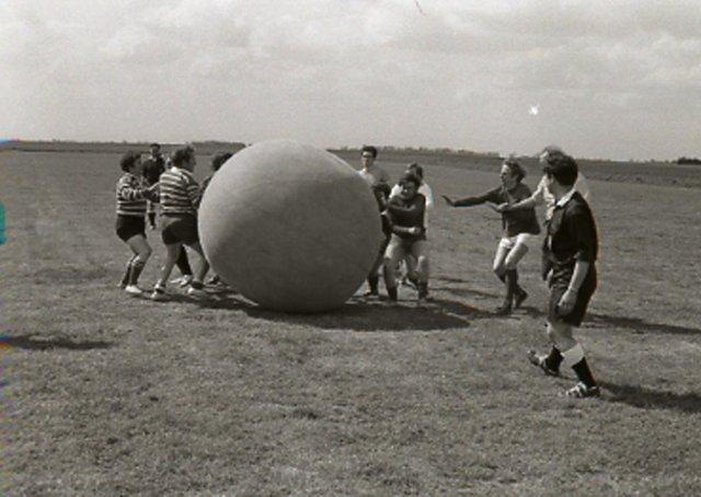 Action from the Boston Pushball Championships of 1971.