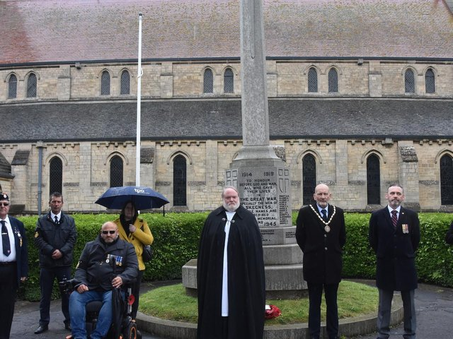 The local branch of the Royal British Legion joined the nation for a ceremony to mark the 100th anniversary of the Royal British Legion in Skegness. Photo: Barry Robinson.