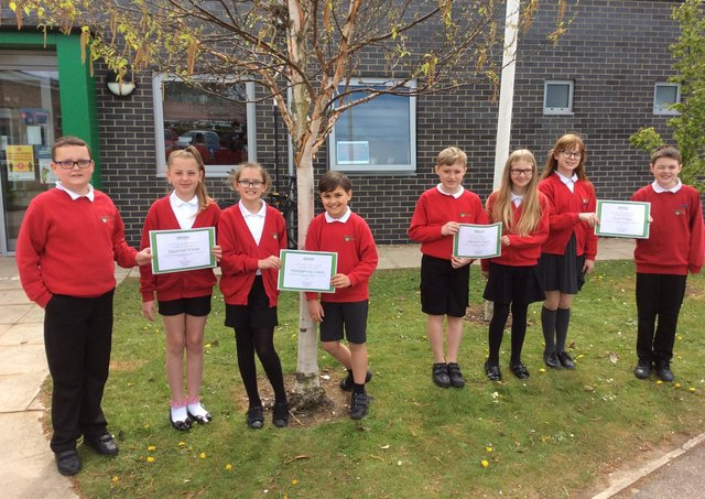Pupils at Hawthorn Primary School, Boston, have been helping Gleeson Homes with a housing project.