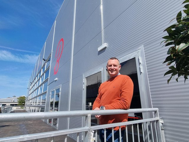 New resort director at Butlin's in Skegness, Alex Saul, outside the new Studio 36 theatre.