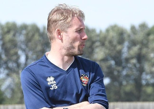 Sleaford Town manager Jamie Shaw. EMN-210520-154758001