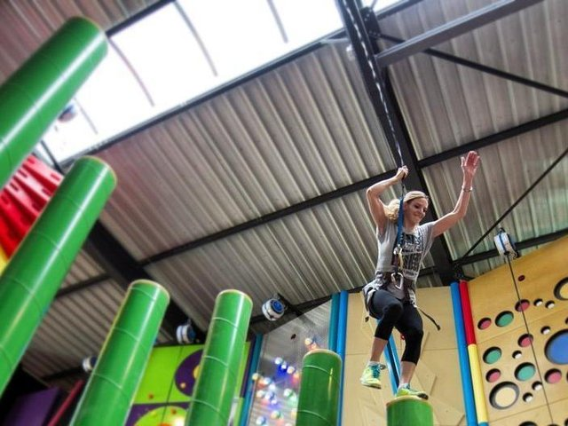 The new Clip 'n Climb attraction at Skegness Pier opens this month.