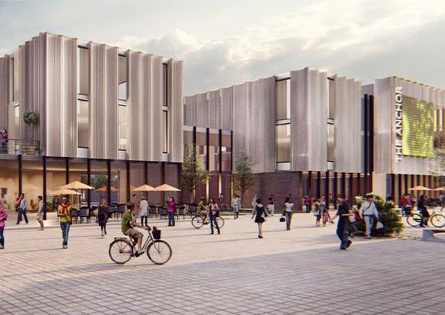 Concept art of the new market site in Scunthorpe High Street. EMN-210519-155905001