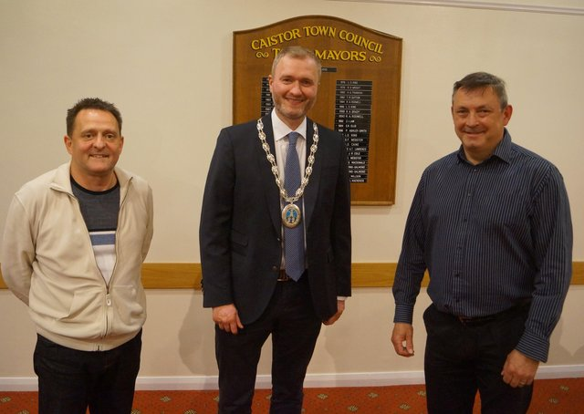 From left: Town Clerk Carl Thomas, Caistor Mayor Jon Wright and deputy mayor Steve Critten EMN-210521-071133001