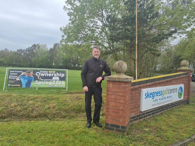 Business manager for Coastfield Leisure David Honman looking forward to welcoming golfers to their new venture at Skegness Golf Centre.