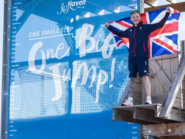 Olympic gymnast Nile Wilson has officially opened a new adventure village in Mablethorpe.