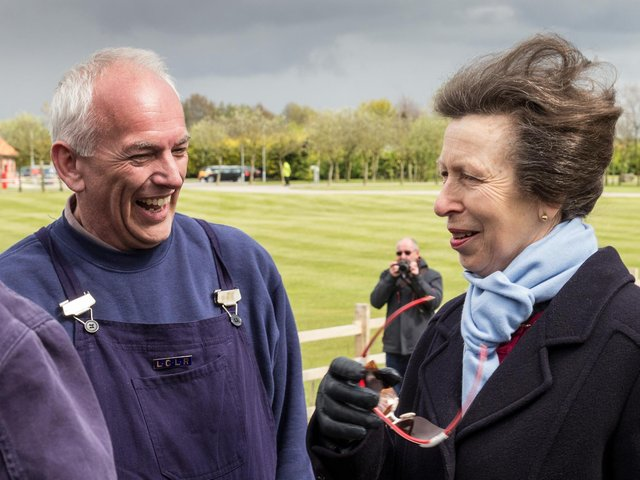 Paul Walkinshaw shares a joke with HRH The Princess Royal, Princess Anne, after driving the locomotive No. 1 Paul, on the Royal Train operated by the LCLR during her visit to the line and the Skegness Water Leisure Park in 2017. Paul Walkinshaw shares a joke with HRH The Princess Royal, Princess Anne, after driving the locomotive No. 1 Paul, on the Royal Train operated by the LCLR during her visit to the line and the Skegness Water Leisure Park in 2017. Photo courtesy of Skegness Water Leisure Park.