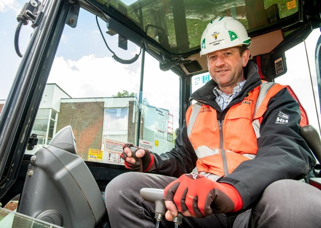 Neil Truelove, site manager from Willmot Dixon.  All pictures: John Aron Photography