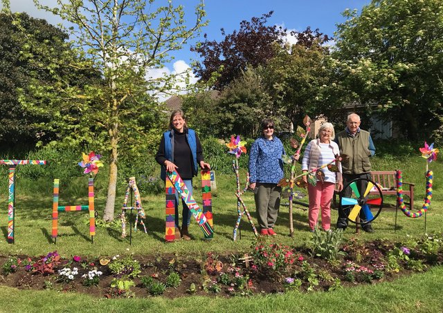 The 'thank you' garden at Wellingore created by the village's WI group.