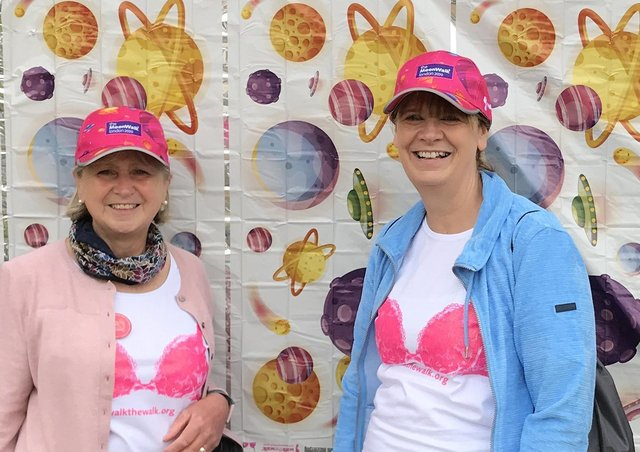 Fundraisers Suzanne Creedon (left) and  Sara Adams.