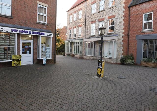 Millstream Square in Sleaford. EMN-210518-105235001