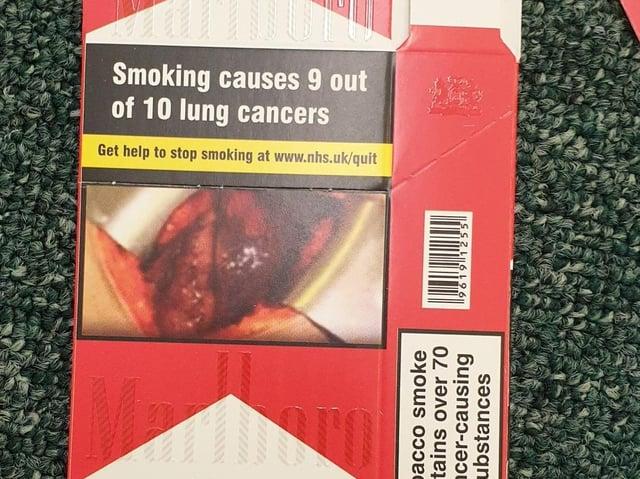 A fake cigarette box