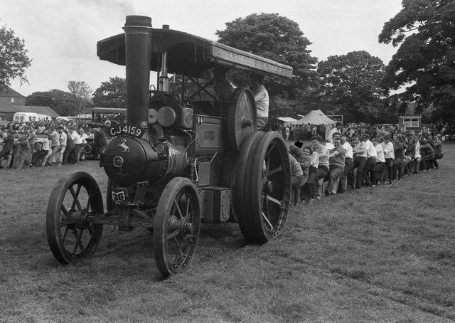 A scene from the eighth annual Traction Engine Rally in 1971.