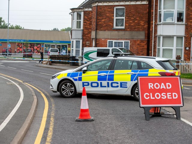 The scene in High Holme Road this morning (Tuesday June 1). Photo: John Aron.
