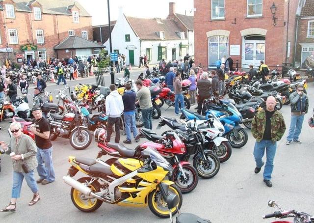 Spilsby's annual bike night 2011.