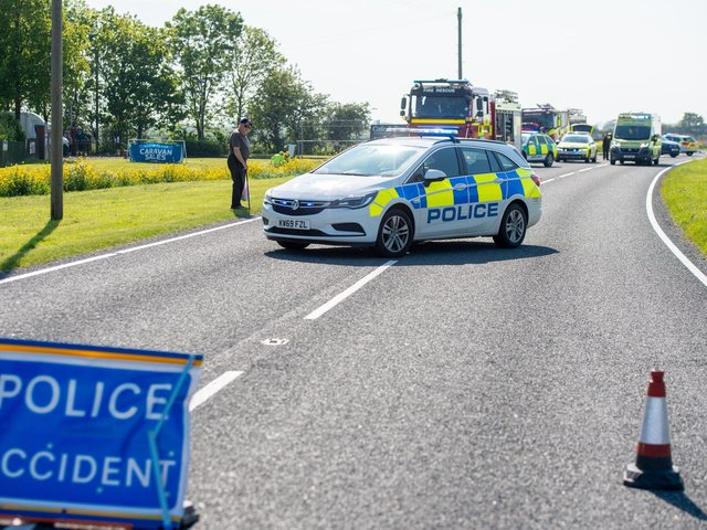 Marsh Lane was closed for three hours following an accident.