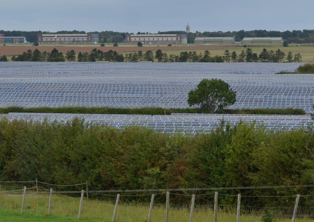 A solar farm, similar to this one at North Rauceby, is planned for land between Walcot, Newton and Pickworth. EMN-210315-155925001