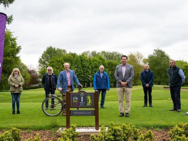 The launch of the bike donation site.