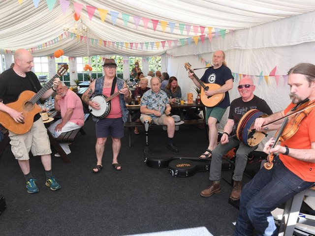 Micky McNulty and Friends at the Waggon and Horses fundraiser. Photo: