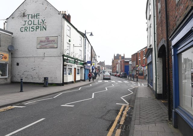 The section of West Street that would have been closed under the plans. Library image.