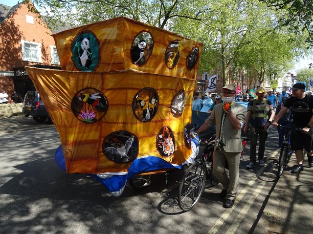 A Carnival Parade organised by XR in Derby.