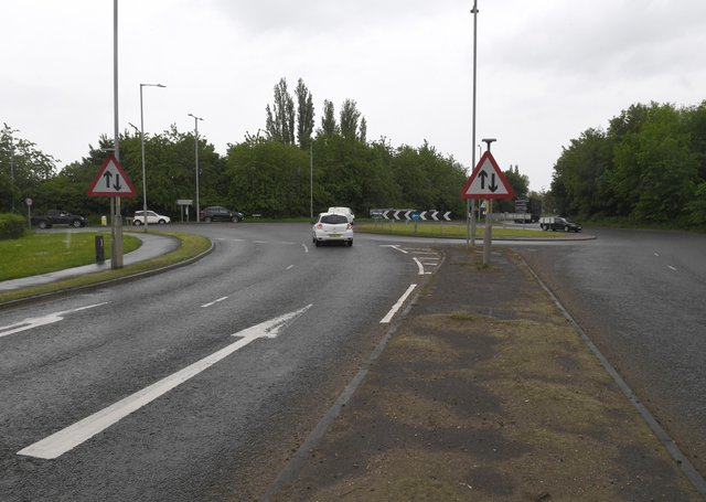 The A16/Marsh Lane roundabout.