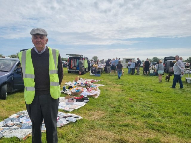 Walter Harper has been running the boot sale at the roundabout in Burgh le Marsh for 10 years.