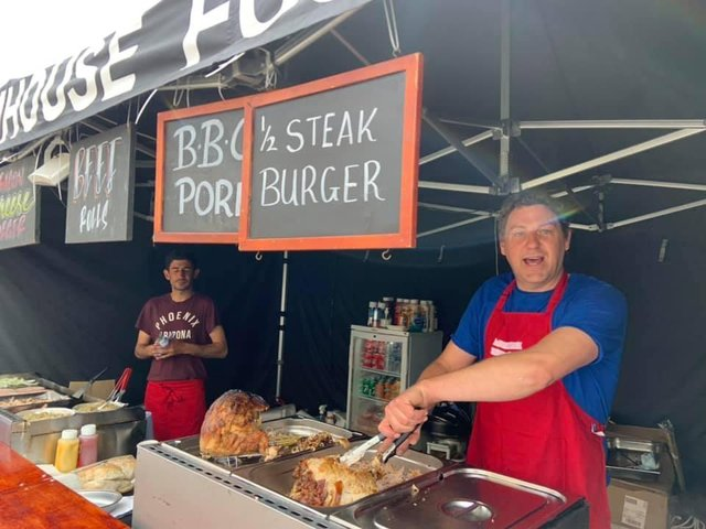 Great food is a highlight of the Continental Market in Mablethorpe.