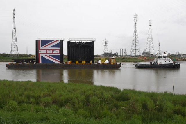 Boston Barrier's new set of defence gates arrive from Holland. EMN-210706-111633005