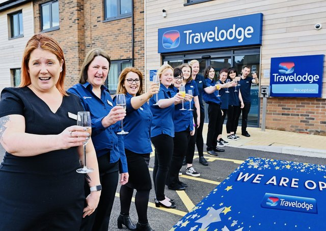 Official opening celebrations at Boston Travelodge.