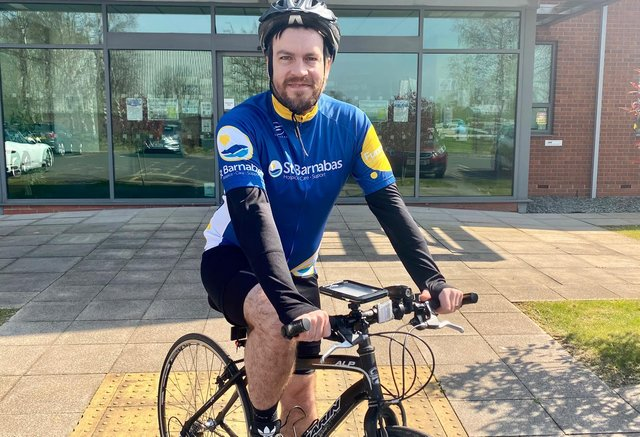 Sam Sleight, Head of Dispute Resolution at Hodgkinsons Solicitors in Skegness, has cycled 400 miles to raise money for charity.