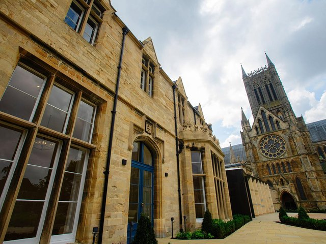 Lincoln Cathedral's new café and shop is set to open to the public in a fortnight.