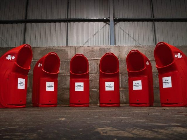 North Lincolnshire Council is installing 75 new extra-capacity bins in lay-bys