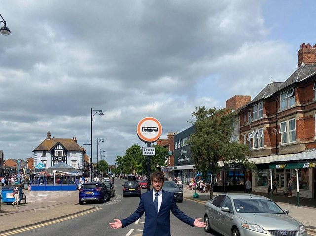 Coun Billy Brookes has launched a petition against the part-pedestrianisation of Lumley Road.