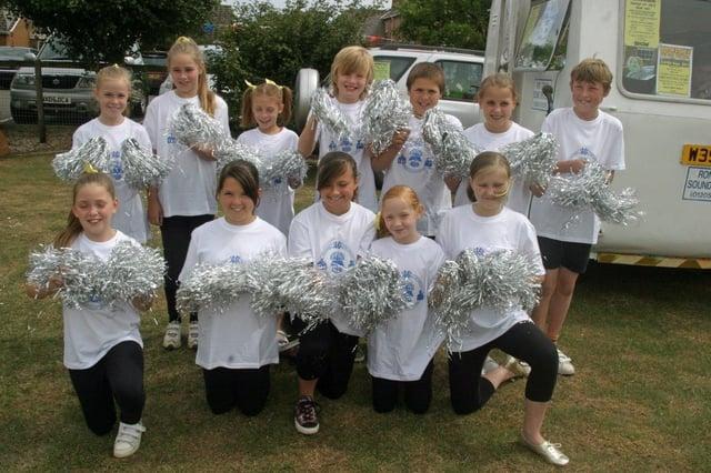 Friskney All Saints Primary School cheerleaders.