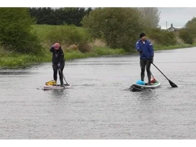 Carolyn Smith and her instructor and friend Phil May, of the Yellowbelly SUP School will be embarking on their third charity paddle board challenge from Lincoln to Boston on Saturday.