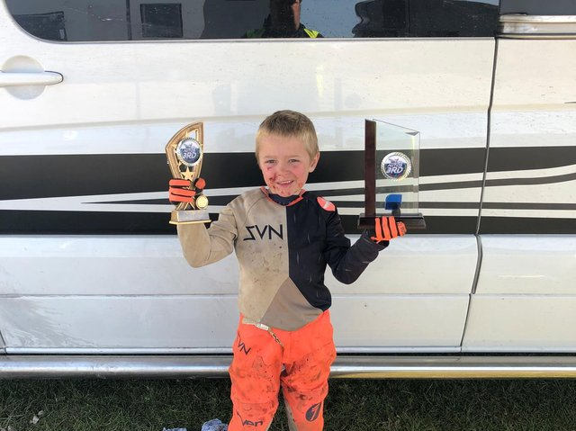 Jenson with one of his many trophies