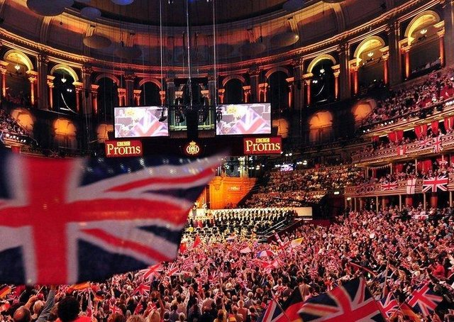 Should these typical scenes at the Last Night of the Proms be replicated in schools this week as part of a 'One Britain One Nation' anthem?