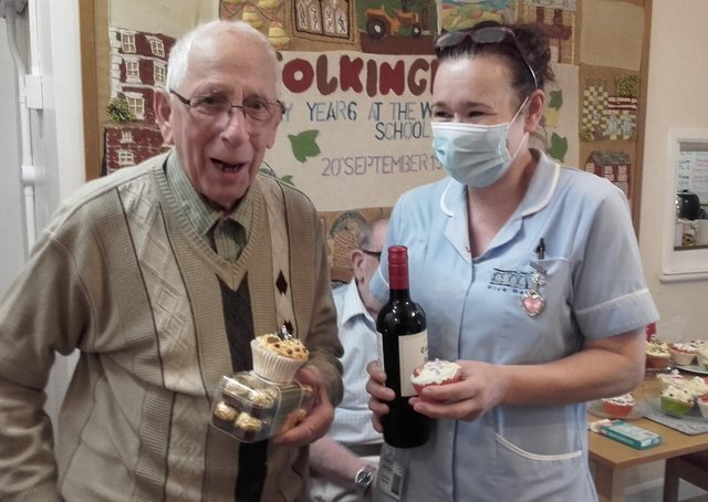 The winners in the cupcake-decorating competition held by the Five Bells Residential Care Home.