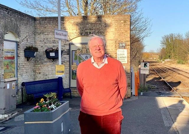 Sir Edward Leigh MP at Market Rasen Station