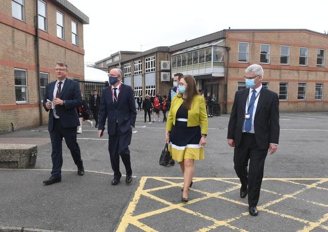 L-R Nick Law, Nick Gibb, Caroline Johnson MP, Andrew Hutton. EMN-210624-145339001