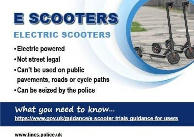 Guidance on using E Scooters in Lincolnshire. EMN-210107-130651001